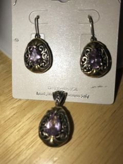 Earrings and matching pendant