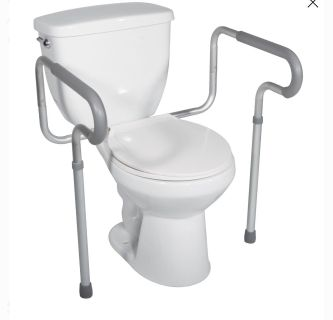 NEW! Drive Medical Toilet Safety Frame with Padded Armrests
