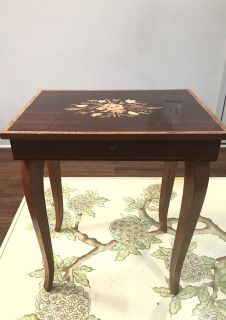 Antique Musical Jewelry Box Stand