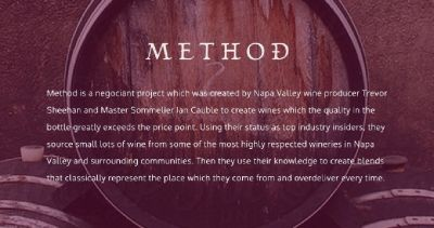 Method Proprietary Red Wine | Napa Valley Cabernet Sauvignon |Precision Wine Company