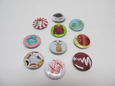 Lot of 10 Mini Christmas Buttons $0.25 ALL