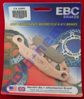 Buy Kawasaki EBC FA258R Front Brake Pads KX 80 85 100 KL250 KL 250 KX80 KX85 KX100 motorcycle in Sugar Grove, Pennsylvania, United States, for US $29.99