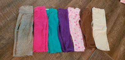 7 pairs of 18 month leggings and pants