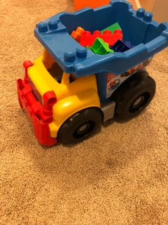Mega blocks dump truck with blocks inside