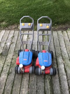 Fisher price lawn mowers