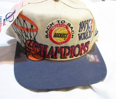 NWT 1995 Rockets World Champions Back to Back Hat Baseball Cap