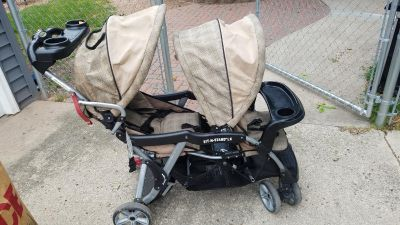 Sit stand lx double stroller