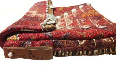 """60 years old Turkish """"Jijim"""" kilim hand bag."""