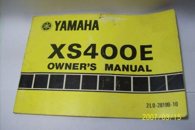 Buy Used Owners Manual for a 1978 Yamaha XS400-E motorcycle in Kansas City, Missouri, US, for US $16.95