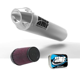 Purchase HMF Honda TRX 450R 2006 Brushed/Pol Euro Slip On Exhaust Muffler + JET + KN motorcycle in Berea, Ohio, United States, for US $313.41