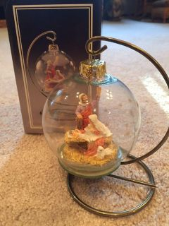 Nativity Glass Ornament w/Hanger and Box
