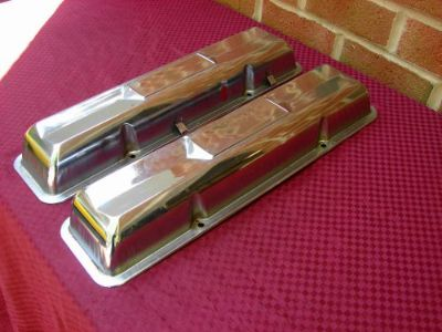 Sell 65 66 CHEVELLE NOVA IMPALA ELCAMINO SS 327 L79 CHROME GM VALVE COVERS STAMPED O motorcycle in East Earl, Pennsylvania, United States, for US $129.00