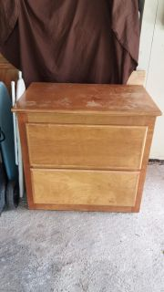 """Chest solid wood with 2 drawers 31 1/8""""W x 29""""H x 20 7/8""""D"""