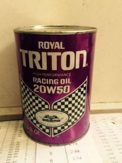 Find Royal Triton racing oil for Chevrolet , Ford < Studebaker , Nash , KF cars and m motorcycle in Joliet, Illinois, United States