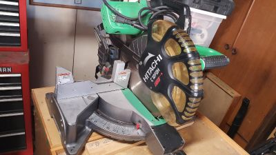"""Hitachi 12"""" Dual Bevel Miter Saw with Laser Guide C12FDH"""