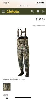 Itasca waders size 10