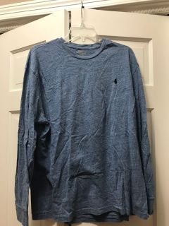 Long sleeve polo shirt large