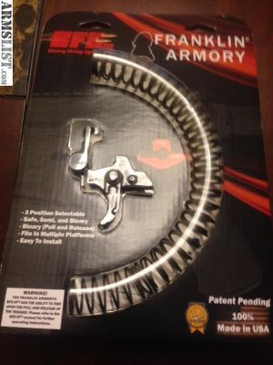For Sale/Trade: Franklin Binary AR trigger