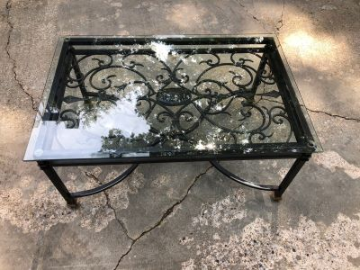 Glass Top Decorative Coffee table