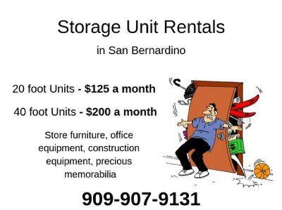 Storage Units in San Bernardino