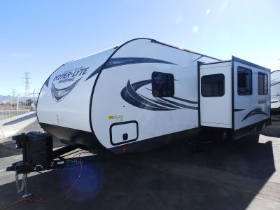 "2018 Forest River SALEM HEMISPHERE 26RBHL, 1 SLIDE, FRONT SLEEPER, OUTSIDE KITCHEN, HUGE REAR BATHROOM, POWER PACKAGE, 40"" LCD TV"