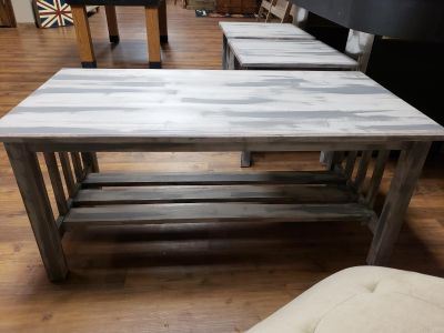 Rustic coffee and 2 end table set