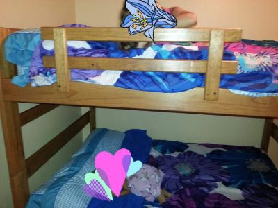 Full over full bunk beds, solid wood