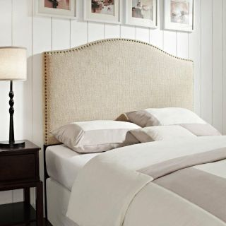 Upholstered King Headboard and Metal Bed Frame