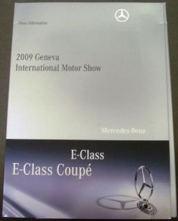 Buy 2009 Mercedes-Benz E-Class Coupe Press Kit Geneva International Motor Show Rare! motorcycle in Holts Summit, Missouri, United States, for US $59.98