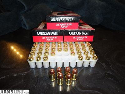 For Sale: 500rds - Federal AE 380 Auto 95gr FMJ RN