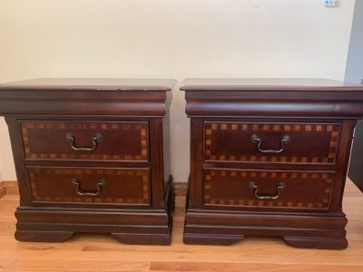 Two Brown Nightstands