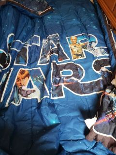 Boys twin star wars comforter and sheets