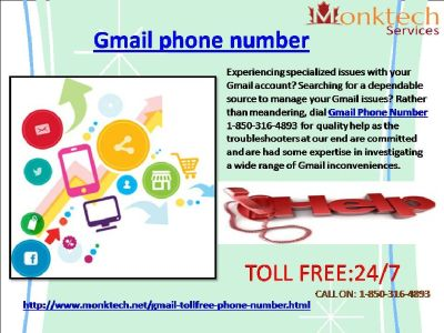 How Can I Avail Gmail Phone Number By 1-850-361-8504?