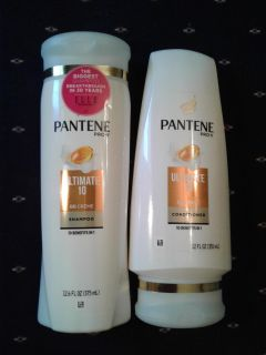 Pantene Ultimate 10 Shampoo & Conditioner New, Factory Sealed ($9.98 Retail)