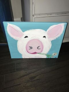 11 by 14 pig canvas $10