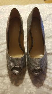Size 8 silver sparkly shoes