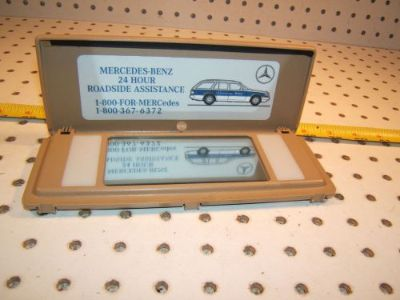 Buy Mercedes W124,W126,W201,R107 SL Lighted sun visor BEIGE mirror OE 1 Cover,Type#2 motorcycle in Roseville, California, United States, for US $94.00