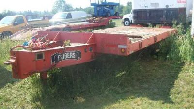 1985 Construction Trailer Specialists flatbed