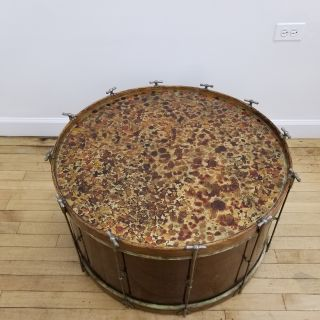 Vintage Marching Band Bass Drum Coffee Table