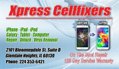 XPRESS CELLFIXERS *cell phone repair shop*Iphone*samsung *ipad cracked screen repair