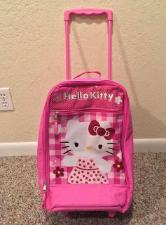 Hello Kitty travel case on wheels with pullout handle