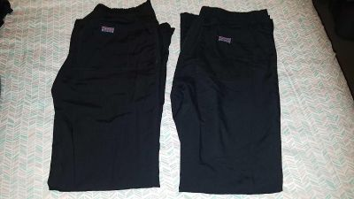 Lot of 2 Cherokee xxs scrub pants .. no fading or staining