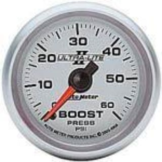 "Purchase Autometer Ultra-Lite II Series-Boost Gauge 2-1/16"" mechanical 60 psi 2-1/16 4905 motorcycle in Winchester, KY, US, for US $72.07"