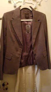 New the limited brown blazer size 6