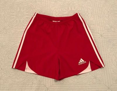 Adidas Vintage 90s Red White Athletic Shorts Ladies Small