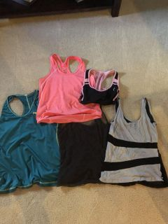 Lot of workout tops.