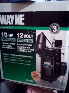 Wayne Brand New Sump Pump