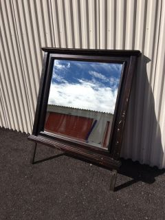 """38"""" wide by 49"""" tall Wood Framed Mirror with Legs"""