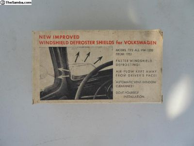 NOS Oval Windshield Defroster Shields to '67