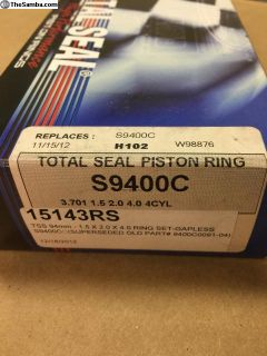 Total Seal Piston Ring Kit For 94mm Pistons